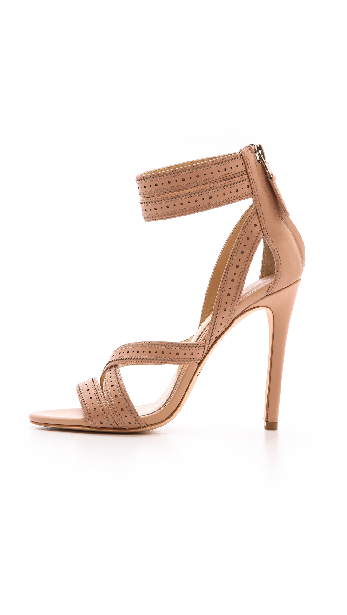 9c7408e24 Lyst - B Brian Atwood Lucila Strappy Sandals Light Pink in Pink