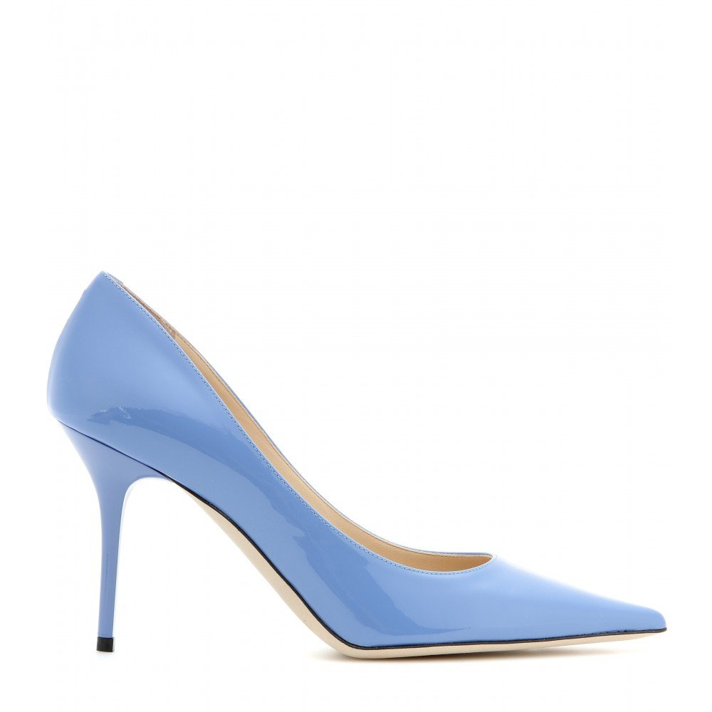 dd2565997383 ... greece lyst jimmy choo agnes patent leather pumps in blue 19e1e 79273