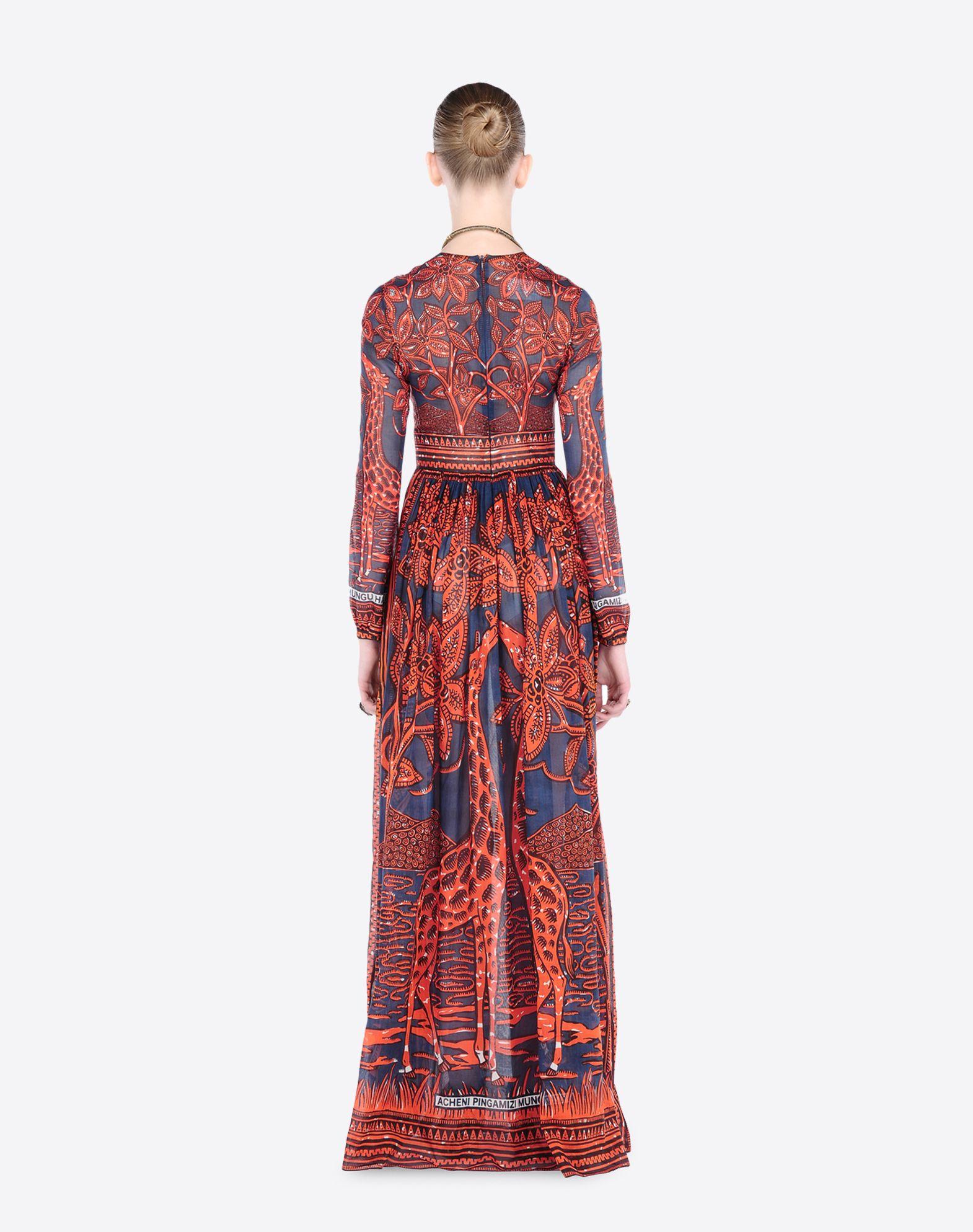 valentino muslin dress with giraffe lyst