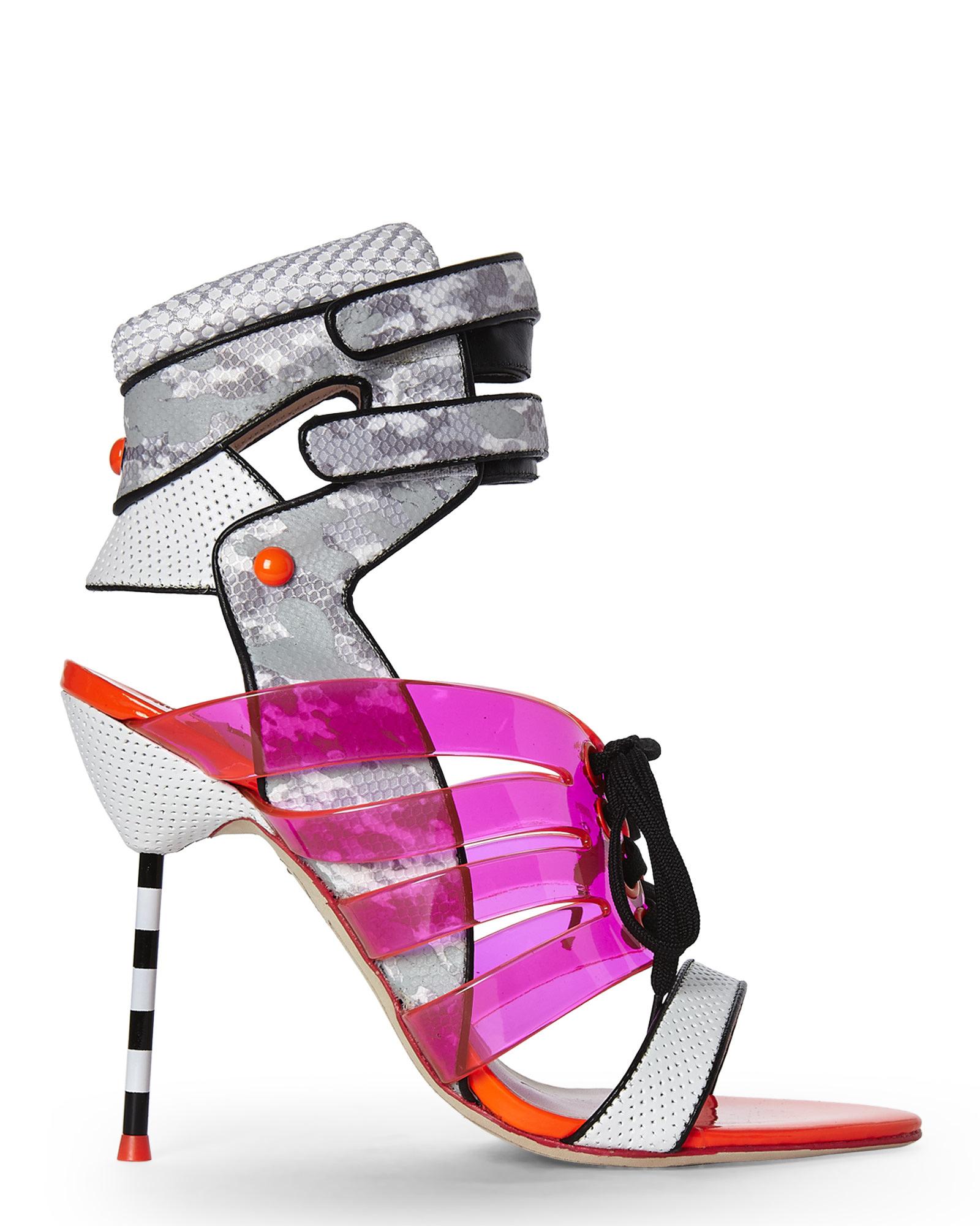 76a8214fdf64 Lyst - Sophia Webster Jourdan Jelly Lace-up Sandal in Gray