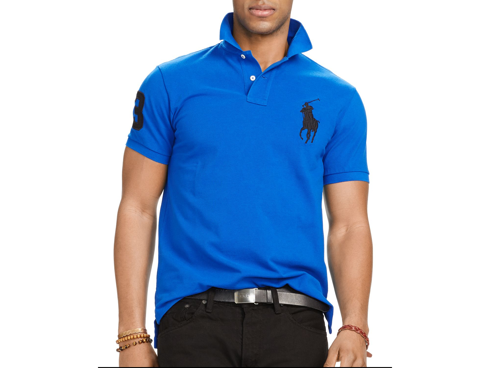 fce7a1198 Ralph Lauren Polo Custom-fit Big Pony Mesh Slim Fit Polo Shirt in ...