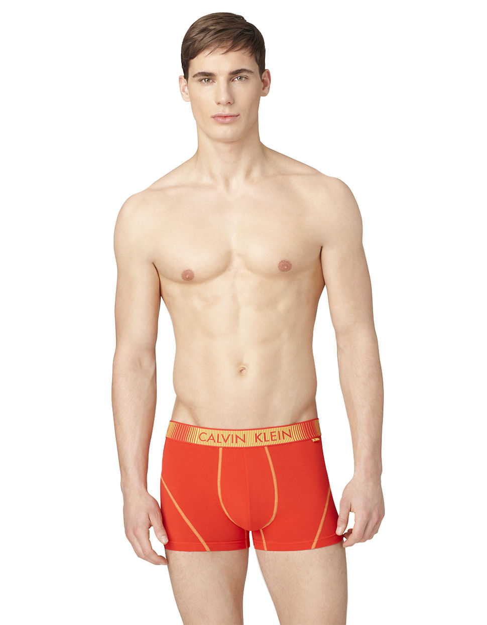 calvin klein flaginspired seamed boxer shorts in red for men spain red lyst. Black Bedroom Furniture Sets. Home Design Ideas