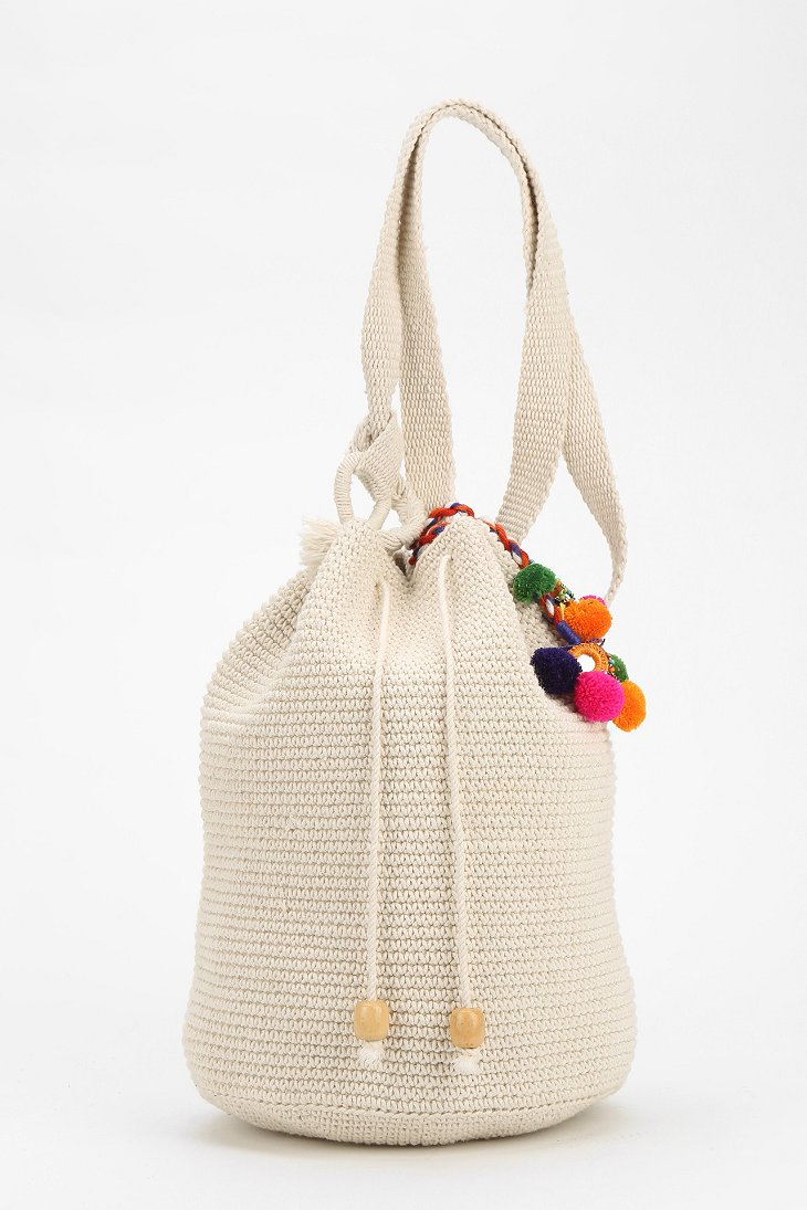 Crochet Pattern For Bucket Bag : Stela 9 Crochet Beach Bucket Bag in Natural Lyst