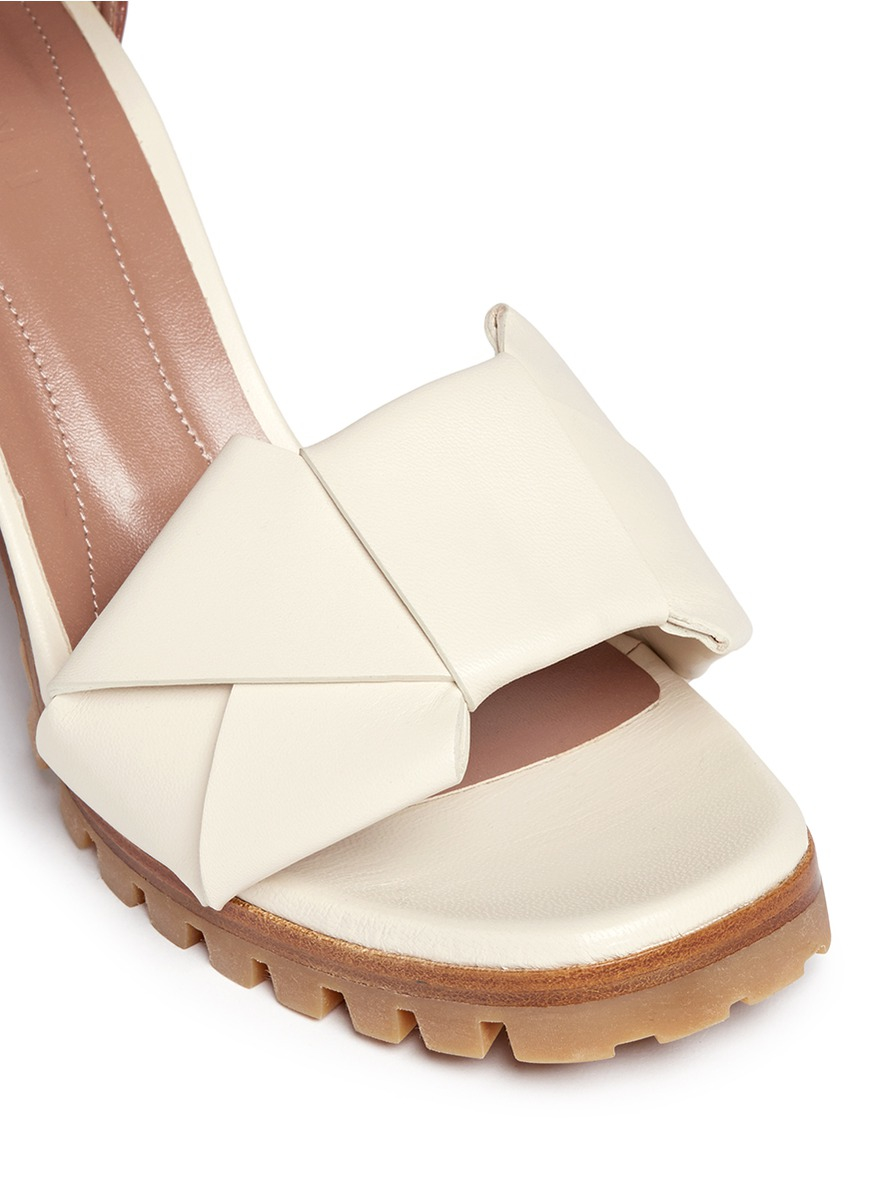 Tan Ankle Shoe With White Sole