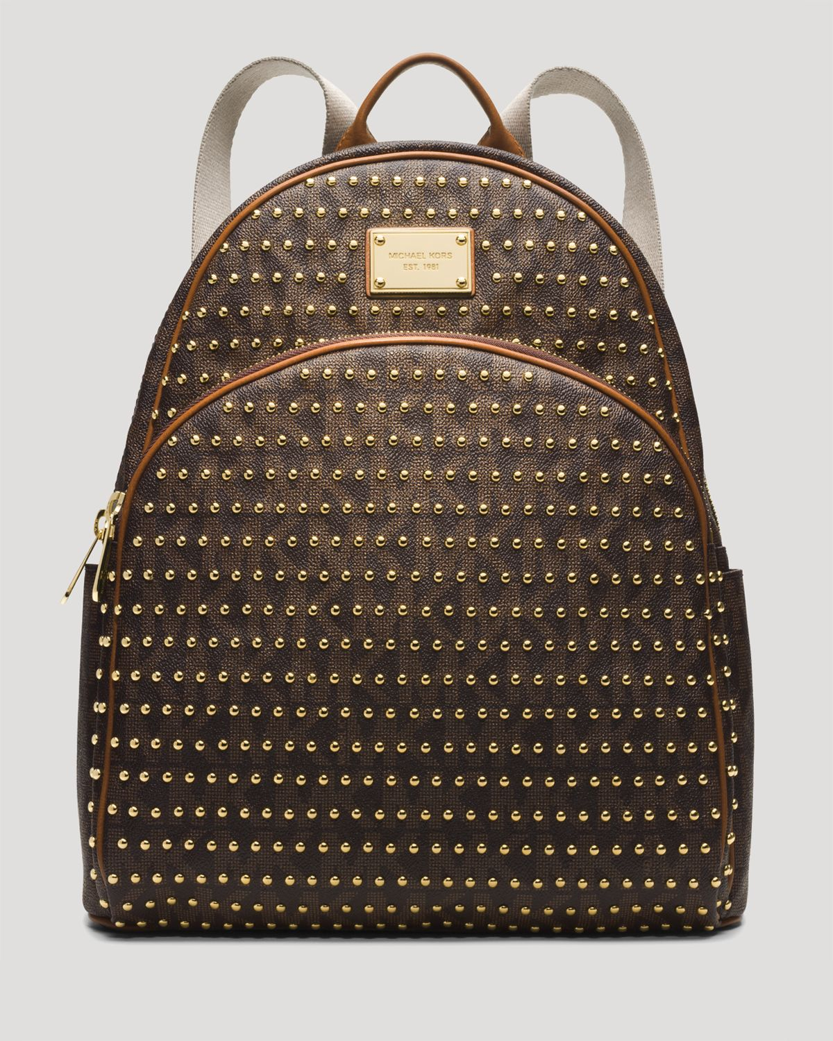 b4cb5949904a ... handbags accessories macys ed5f3 bf2a1  coupon code for lyst michael  michael kors backpack jet set item large studded in bb938 8e4cc