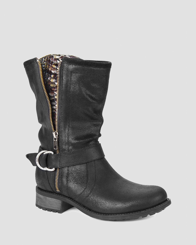 ugg ugg 174 australia flat boots silva buckle in black lyst