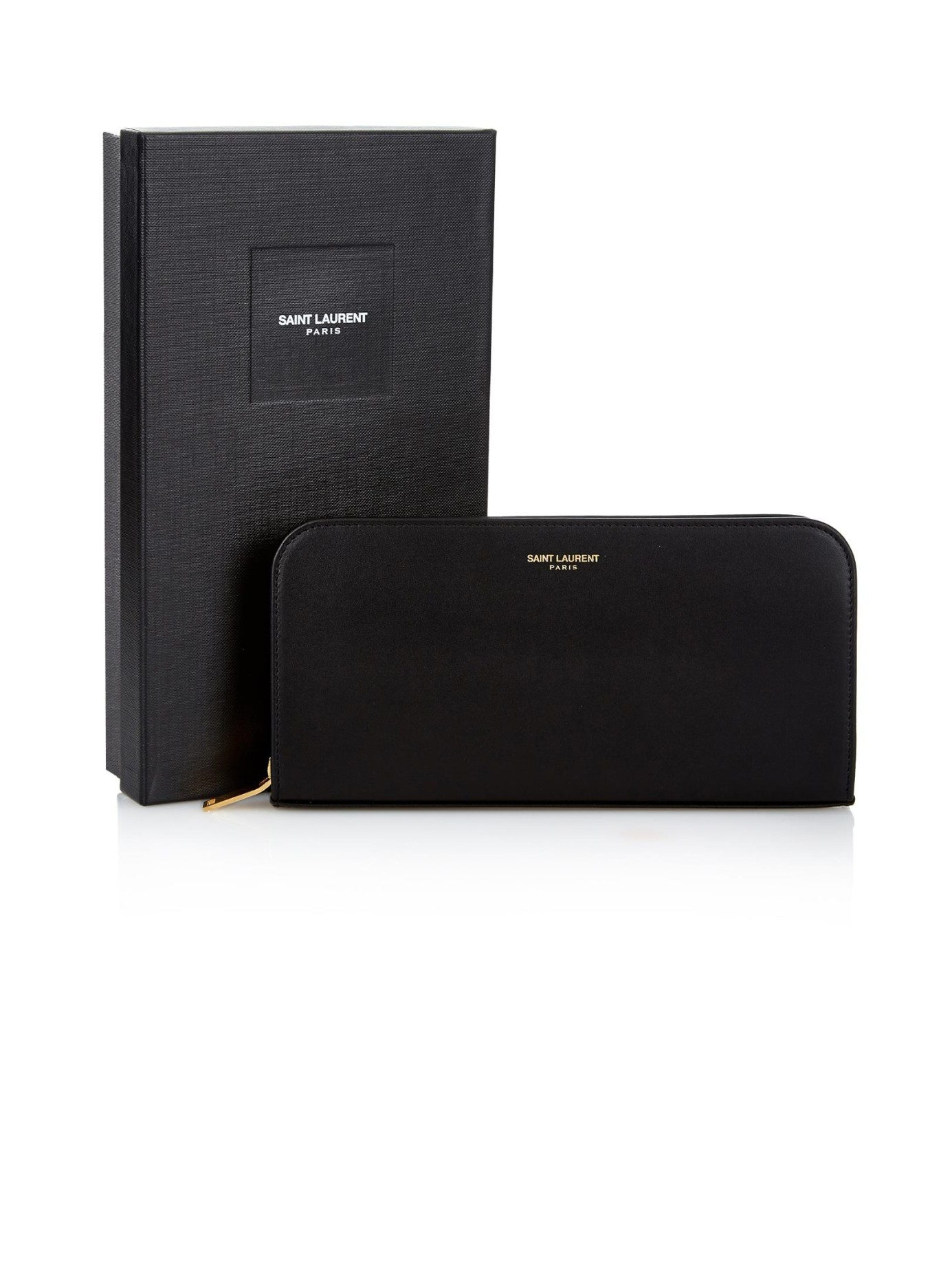 Grained leather continental wallet Saint Laurent odts2xGDa