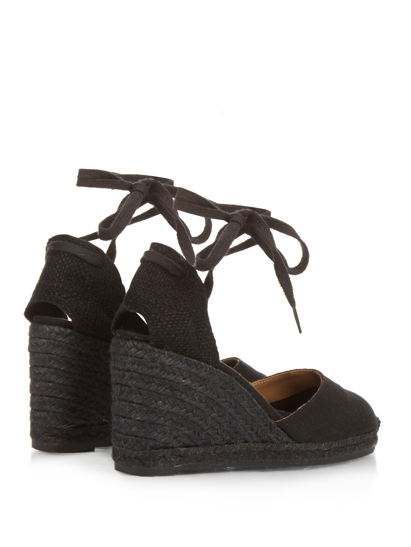 Castaner Carina Espadrille Wedges In Black Lyst