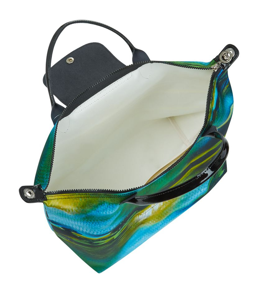 b34c0a50c6aa Longchamp Le Pliage Nã©O Fantasie Medium Handbag in Green - Lyst