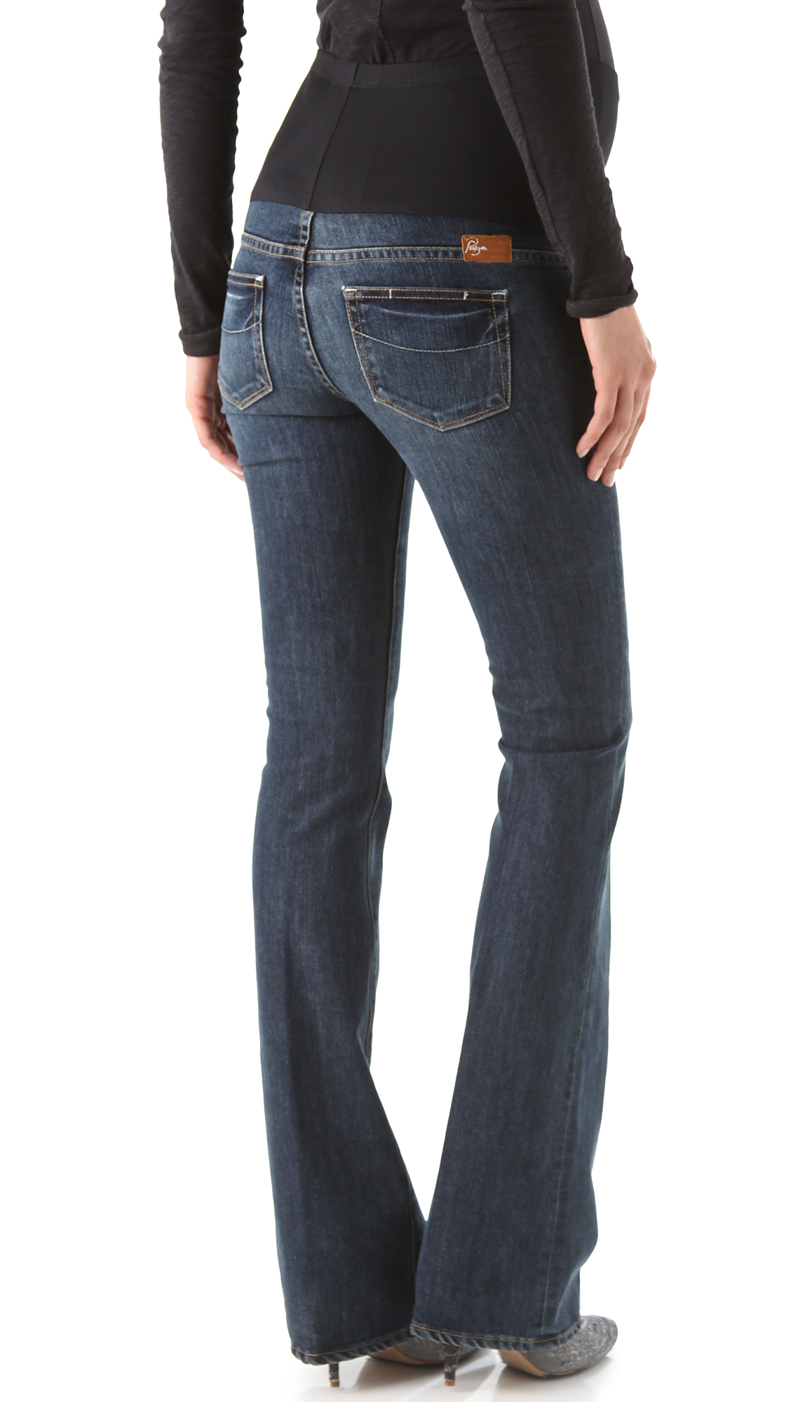 Paige Laurel Canyon Maternity Jeans in Blue | Lyst