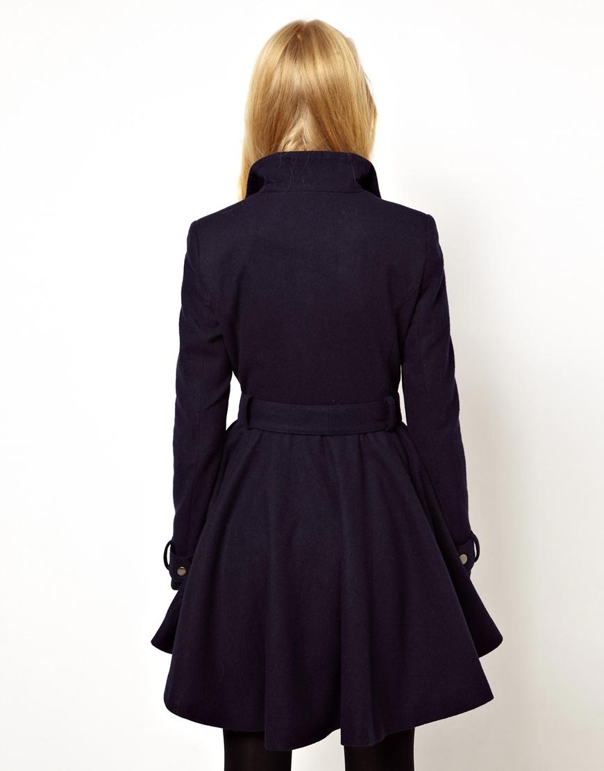 Wool Skater Coat | Fashion Women's Coat 2017