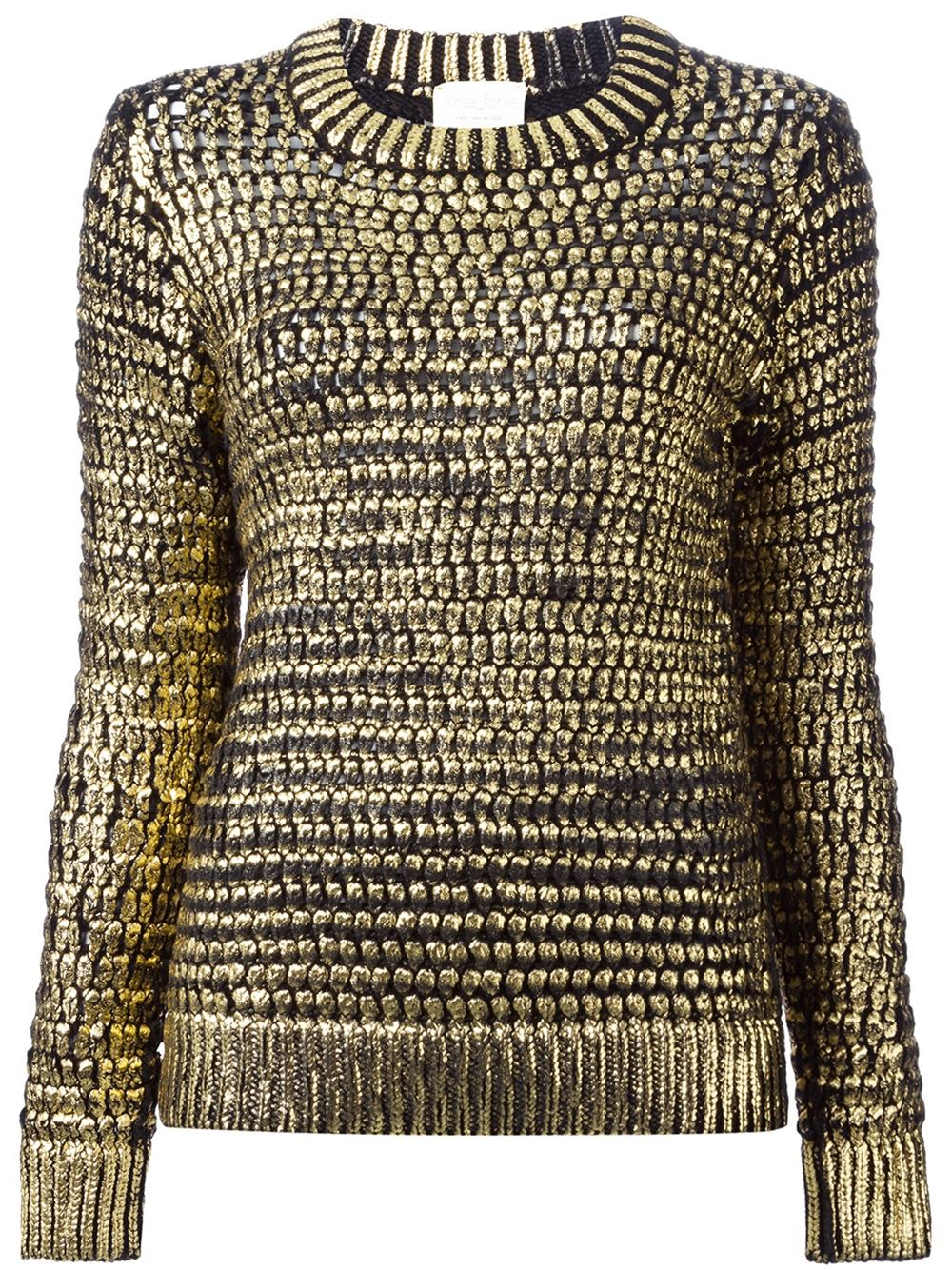 Forte forte Open Knit Sweater in Metallic | Lyst