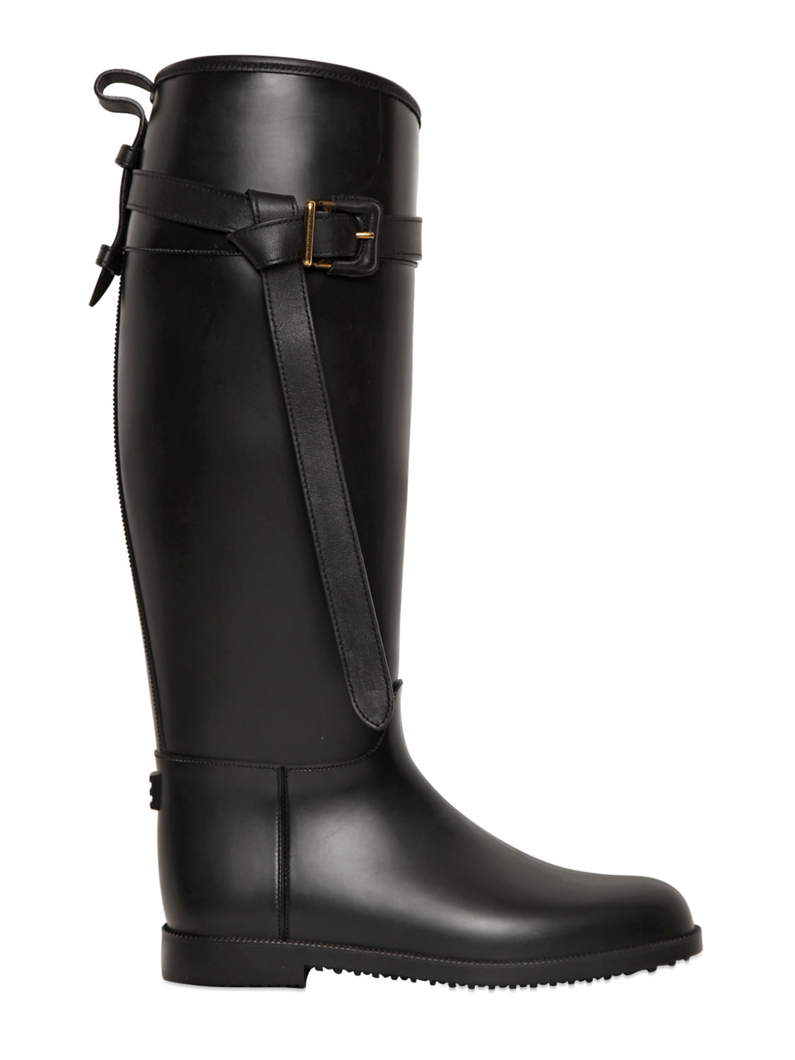 Burberry 20Mm Brain Rubber Rain Boots in Black | Lyst