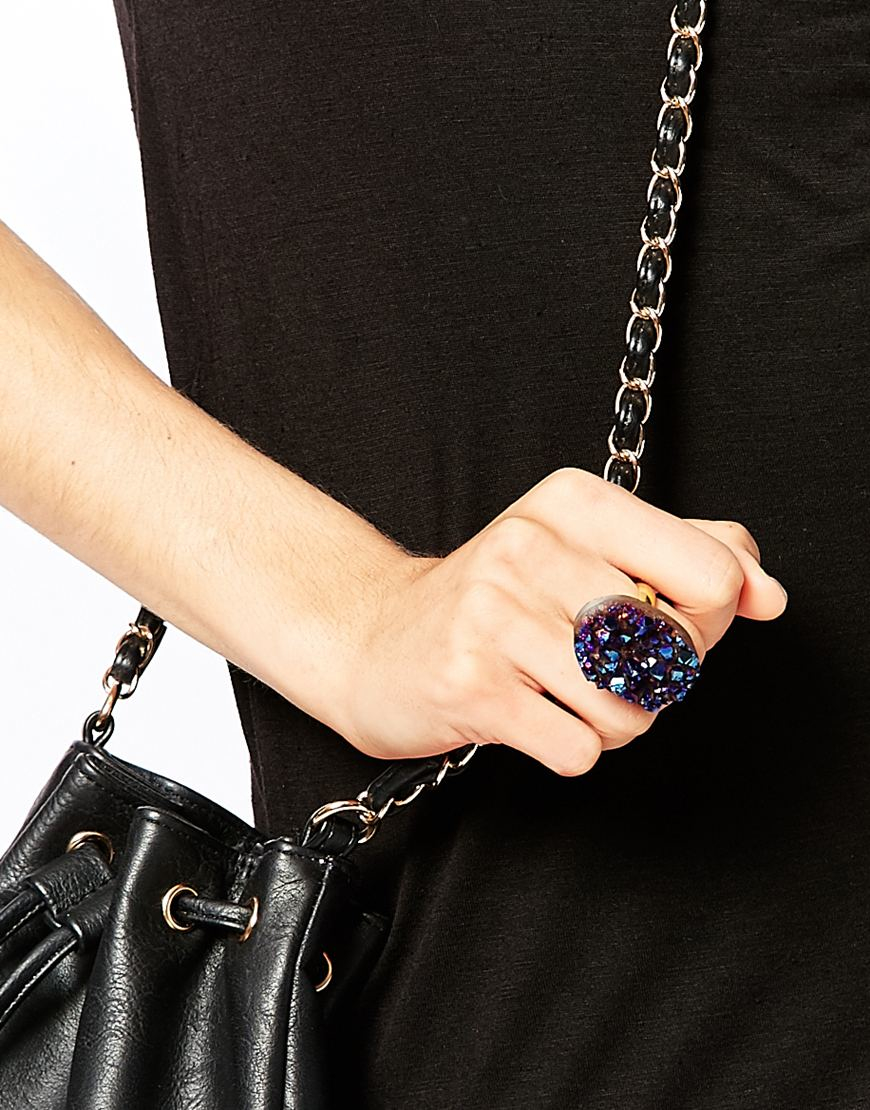 Only Child Asteroid Ring in Blue - Lyst
