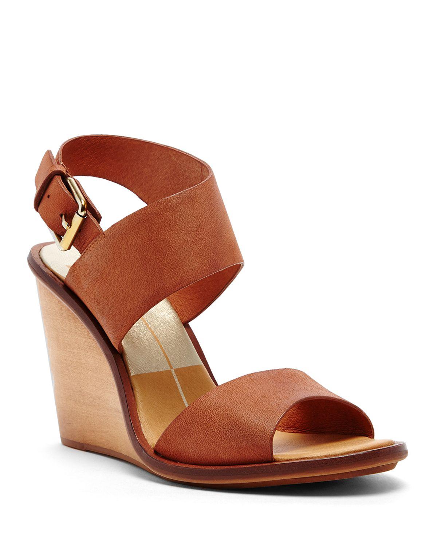dolce vita platform wedge sandals jodi in brown lyst