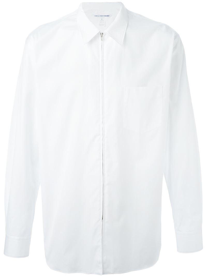 Comme des garçons Zip Shirt in White for Men