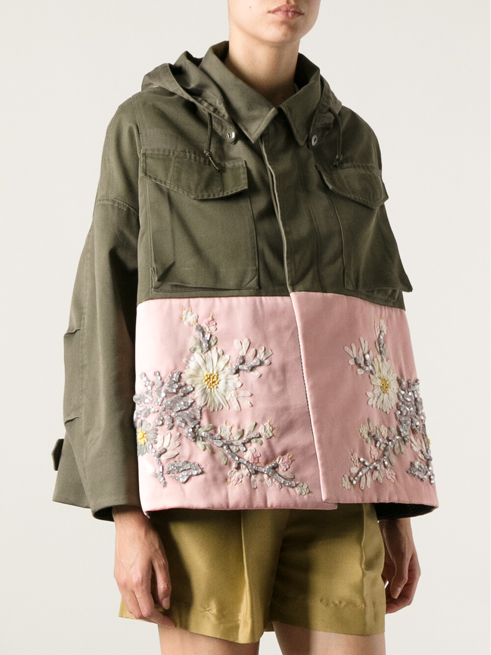 Lyst antonio marras embroidered military jacket in pink