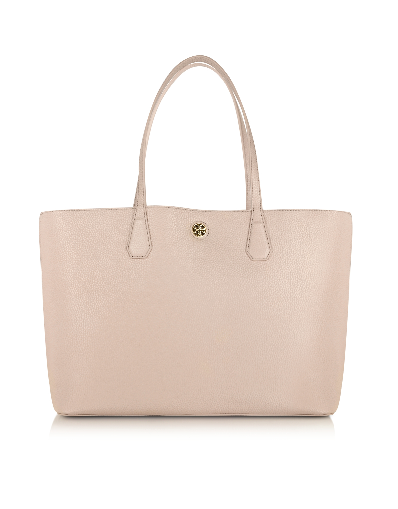 2a5fd8b90e7 Lyst - Tory Burch Perry Leather Tote in Brown