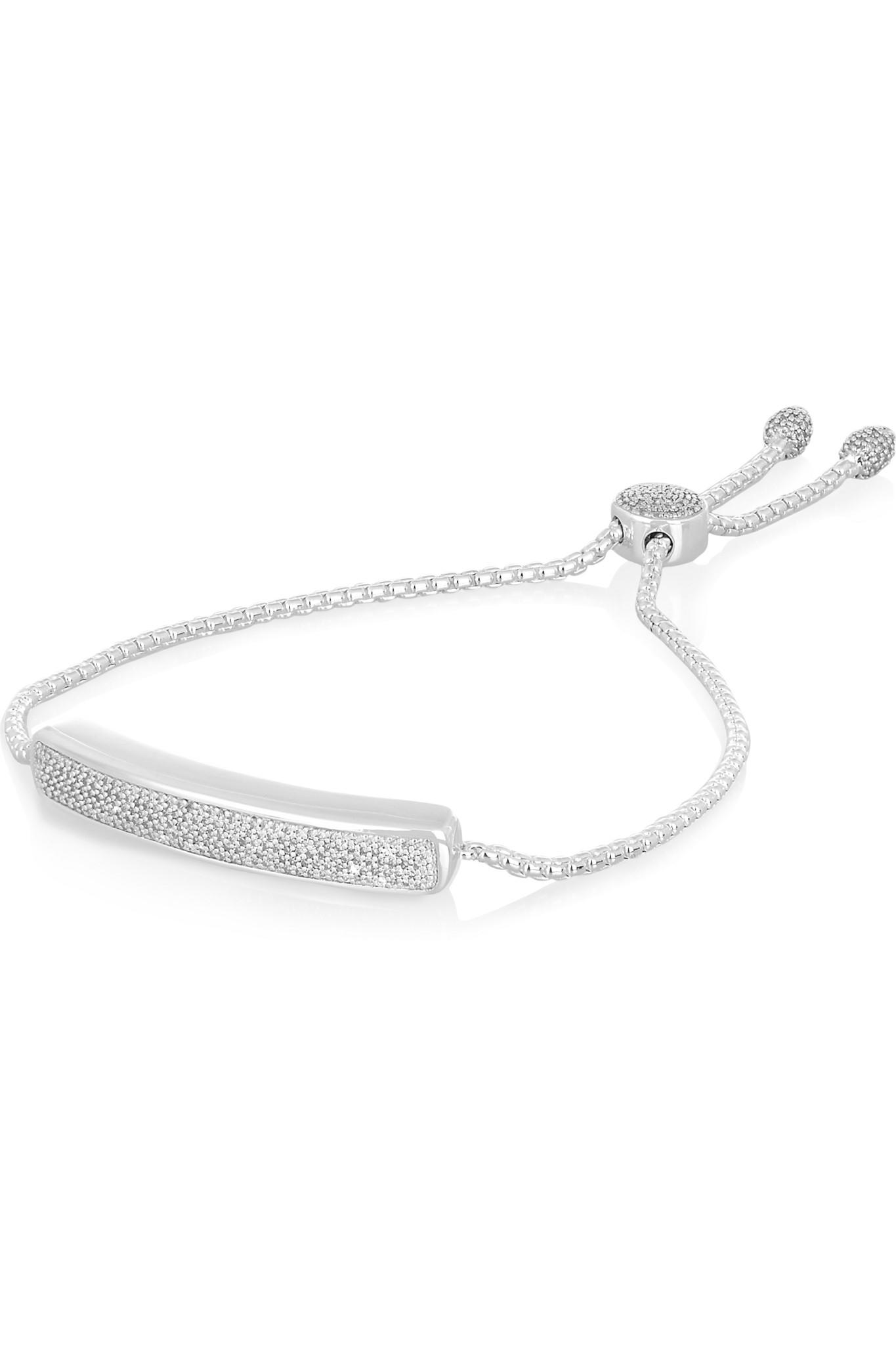 Sterling Silver Baja Deco Diamond Bracelet Diamond Monica Vinader k4CEAU