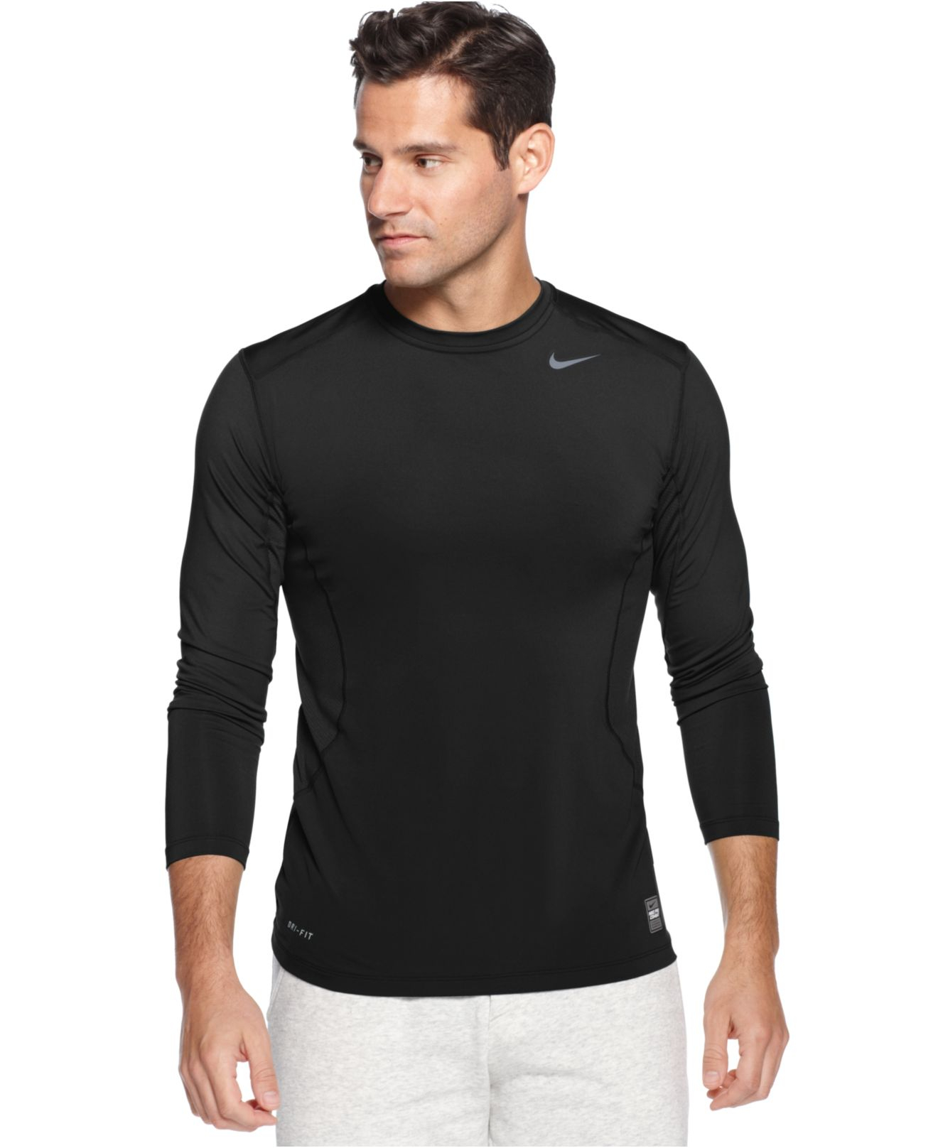 brand new 4b97e 3dde6 Lyst - Nike Pro Combat Dri-Fit Fitted Long Sleeve Tee in Blue for Men