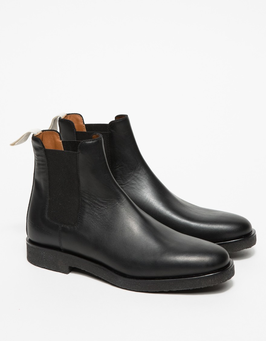 common projects leather chelsea boots in black lyst. Black Bedroom Furniture Sets. Home Design Ideas