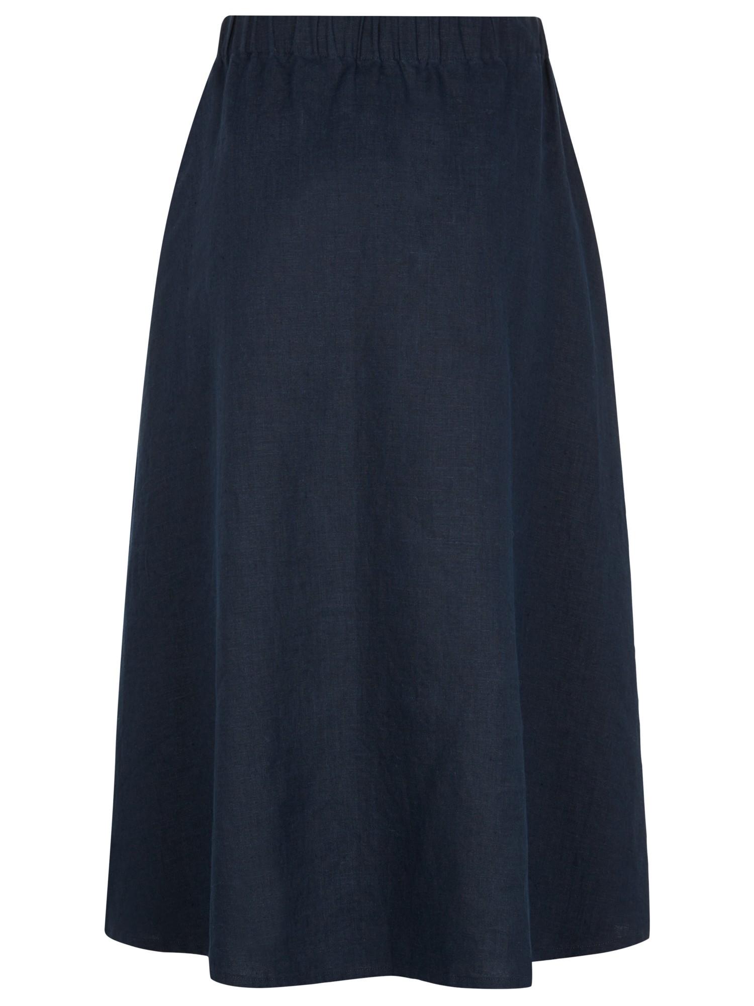 jaeger linen contemporary skirt in blue lyst