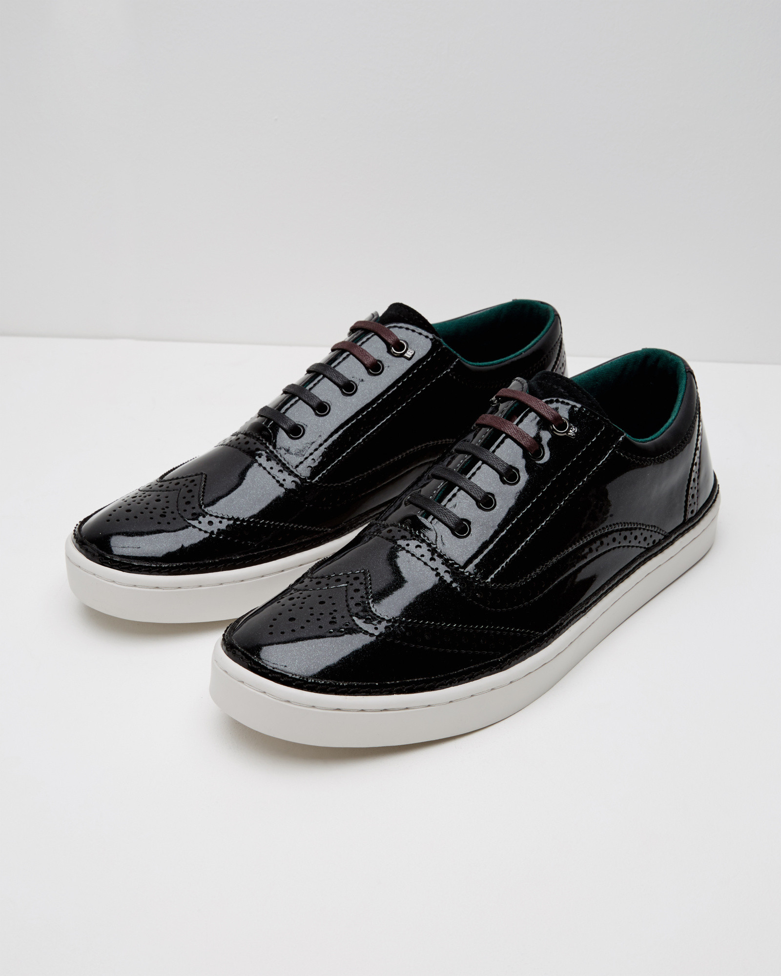 Brogue Detail Suede Hi-top Trainers Ted Baker SL5oD