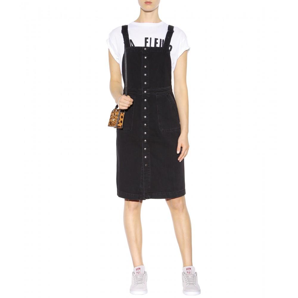 c9b28eb749c Lyst - M.i.h Jeans Eastman Denim Dress in Black