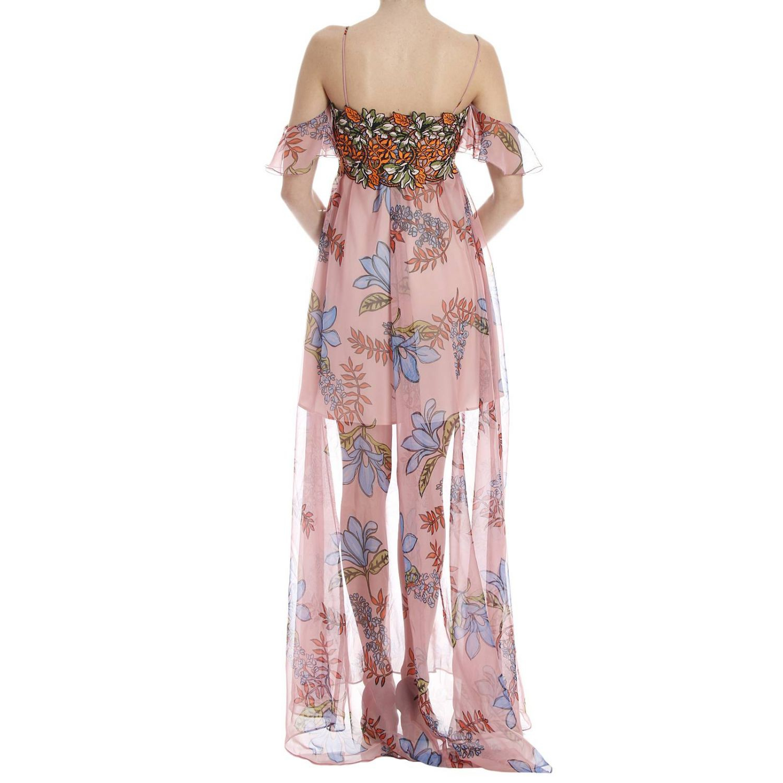 Lyst - Pinko Long Dress in Pink d0b04c083f2