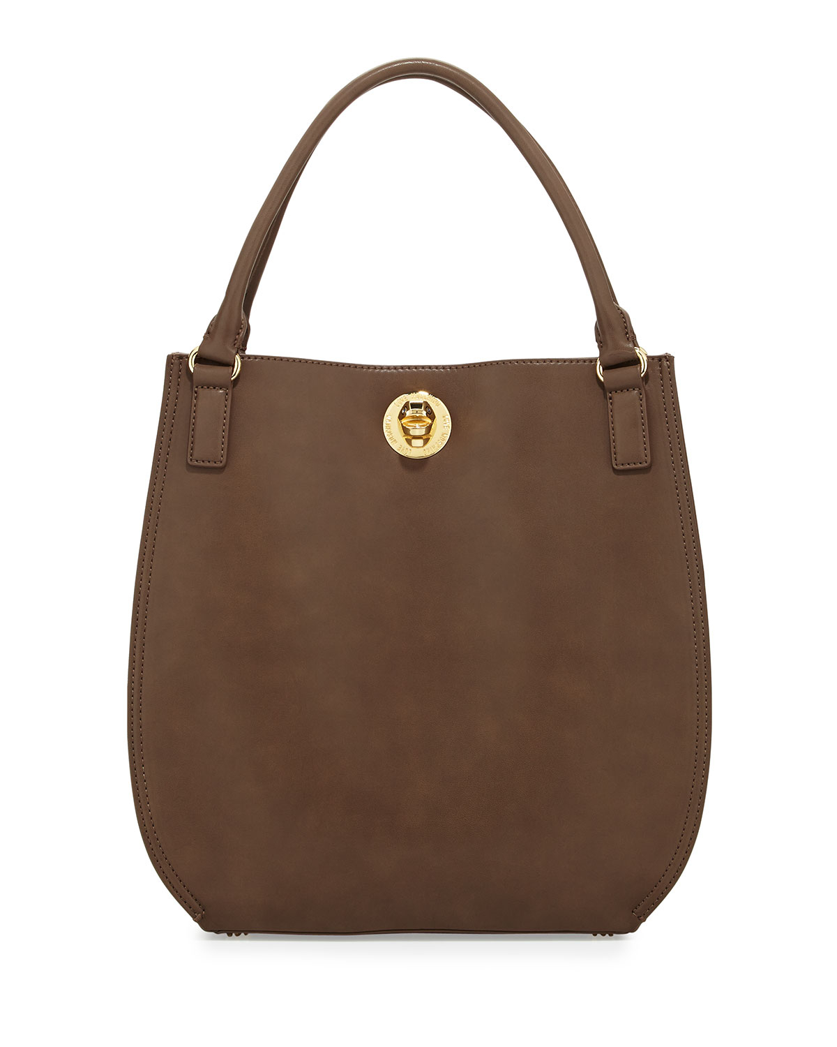 love moschino bear detailed turnlock shopper bag taupe in brown lyst. Black Bedroom Furniture Sets. Home Design Ideas