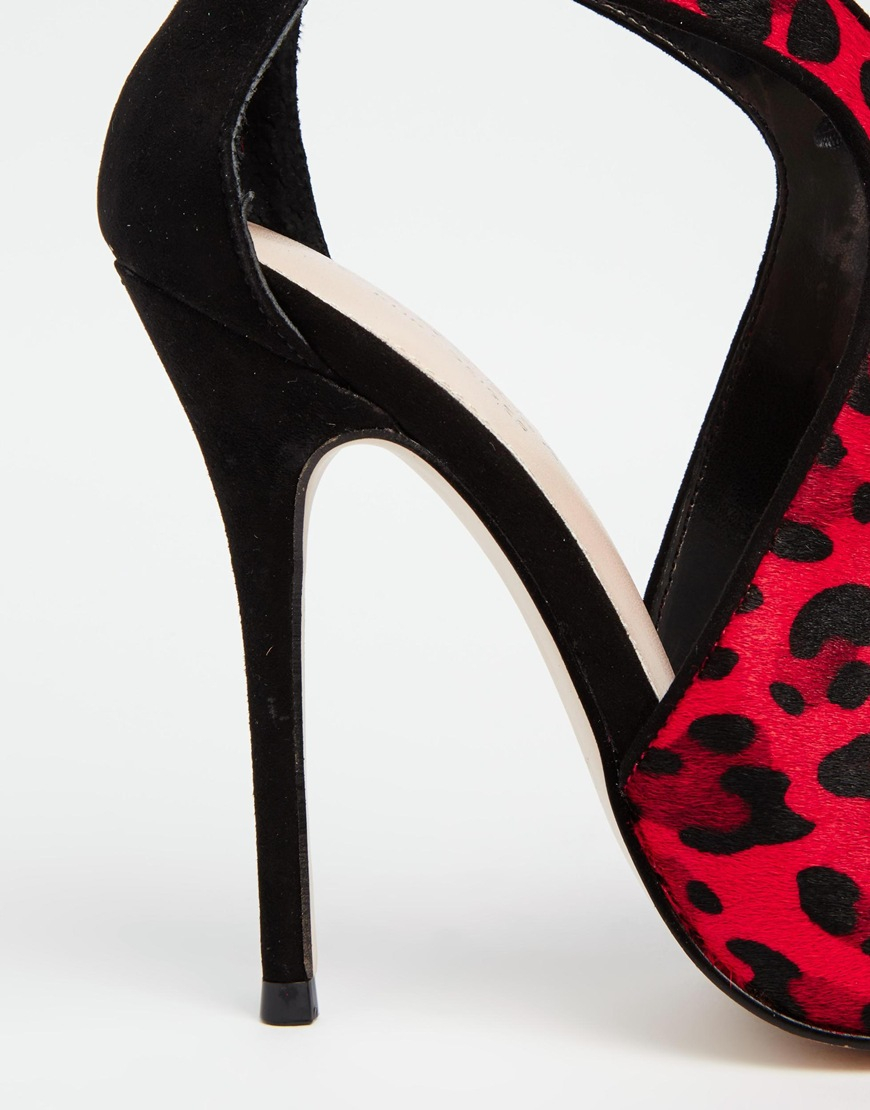 carvela kurt geiger ghost leopard pony print print cut out shoes