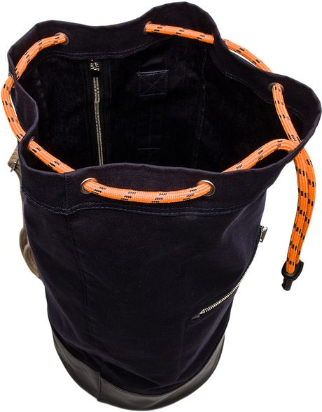 Jack Spade Rope Canvas Cinch Backpack In Navy In Blue For