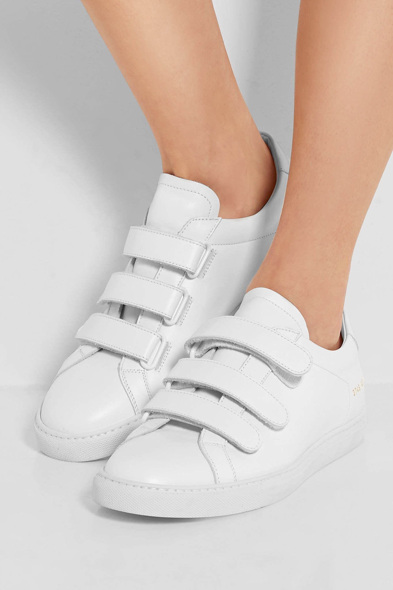 1521bc45086b4 Common Projects Achilles Three Strap Leather Sneakers in White - Lyst