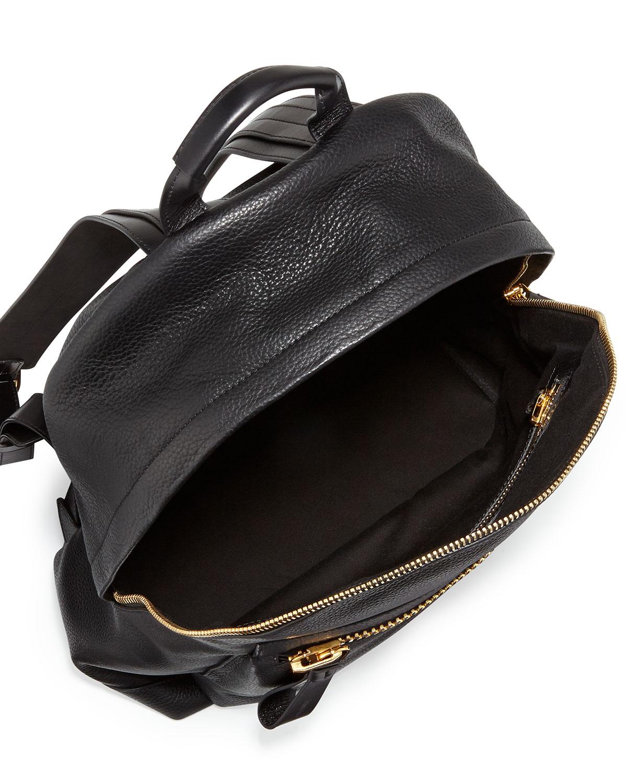 lyst tom ford mens leather widezip backpack black in black. Black Bedroom Furniture Sets. Home Design Ideas