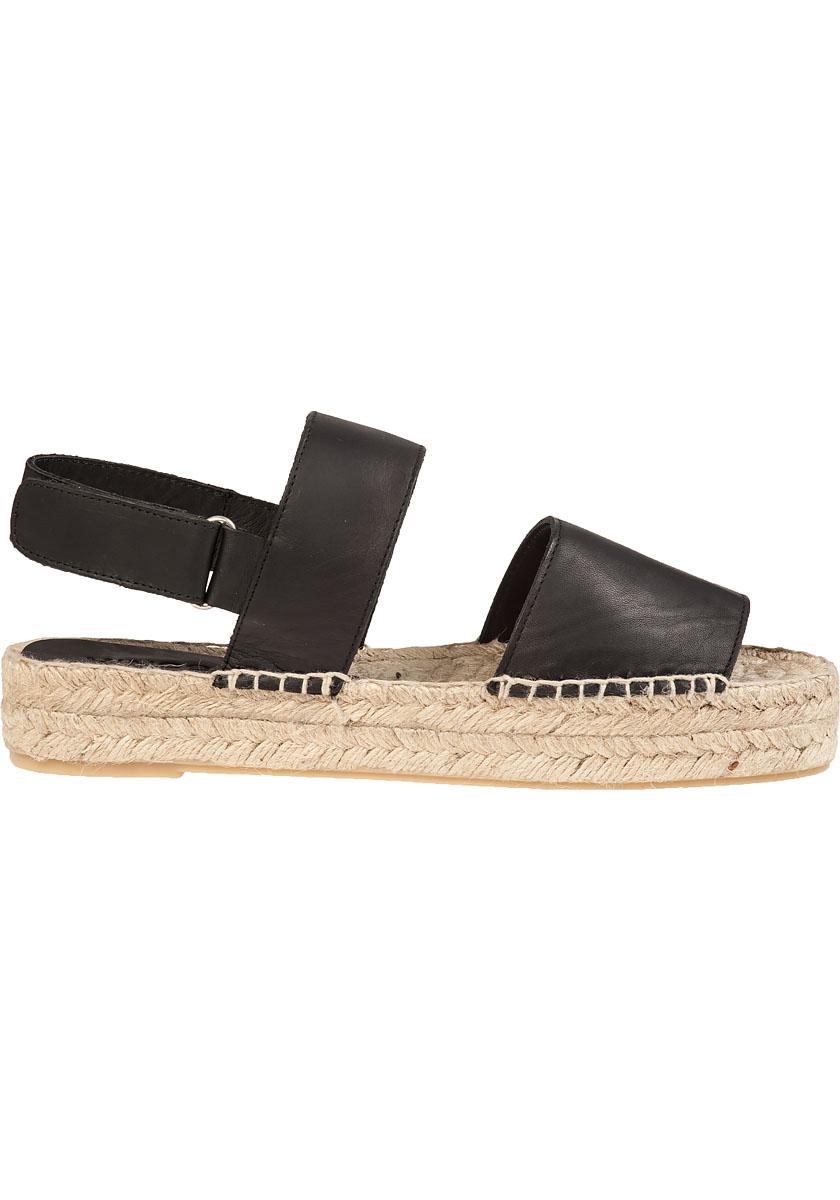 546b7edb689 Lyst - Vince Edina Leather Espadrille Flatform Sandal in Black