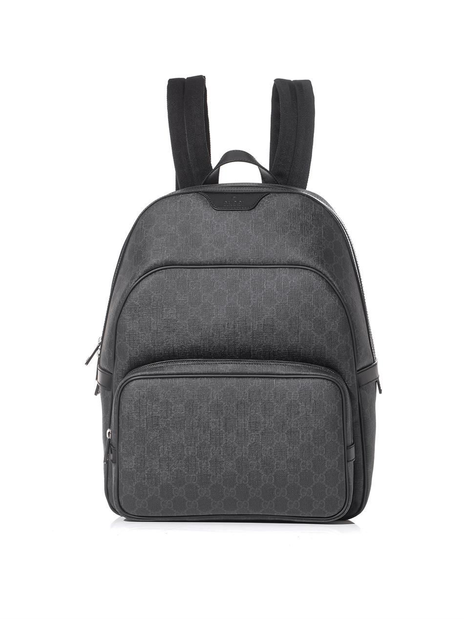5fb12fc9e Gucci Gg Supreme Backpack in Gray for Men - Lyst