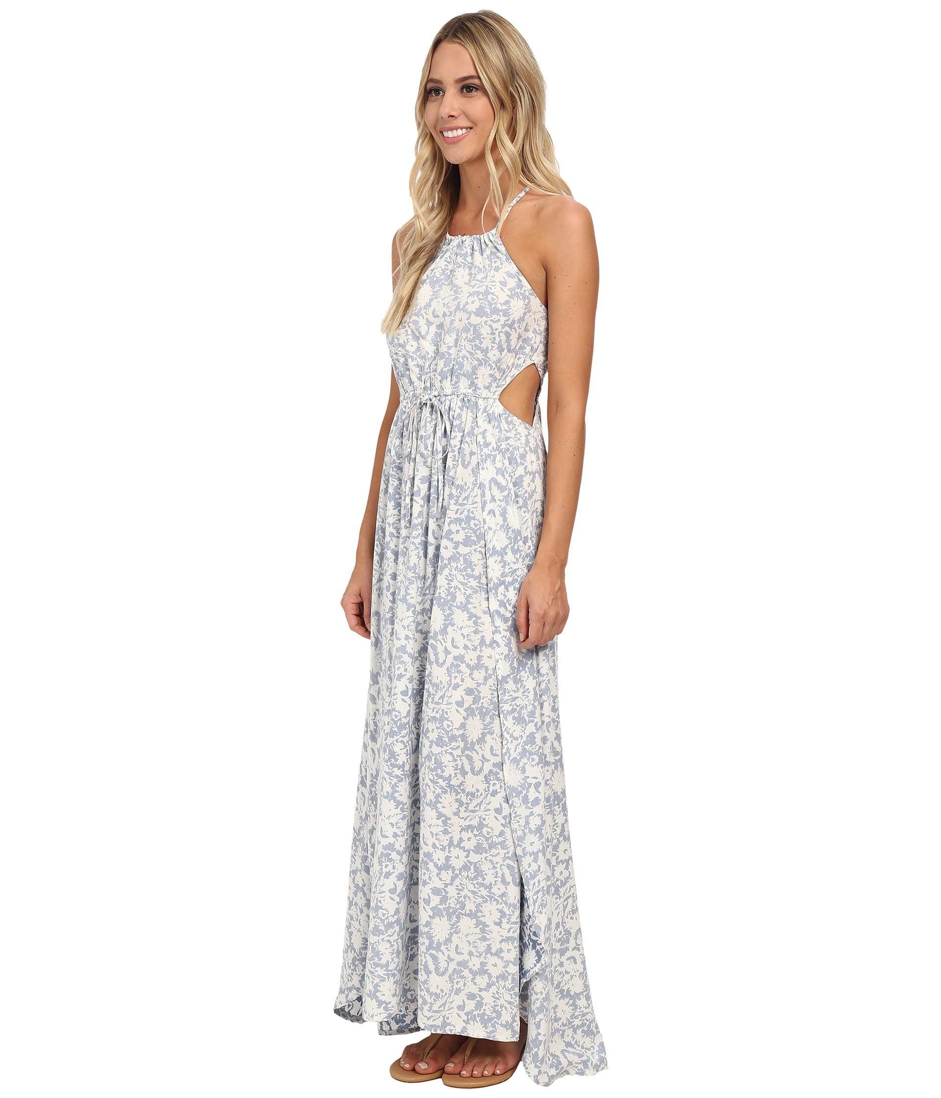 85dd1476a366 Lyst - Billabong Sounds Of The Sea Maxi Dress in Blue