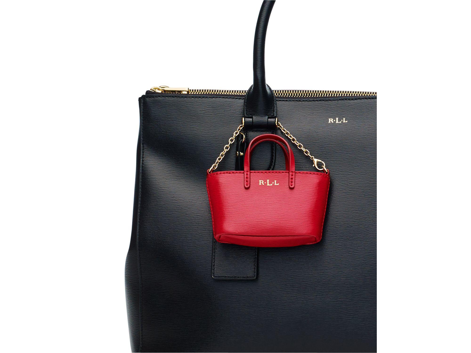 a96e8420bb Lyst - Pink Pony Lauren Mini Tote Bag Charm in Blue