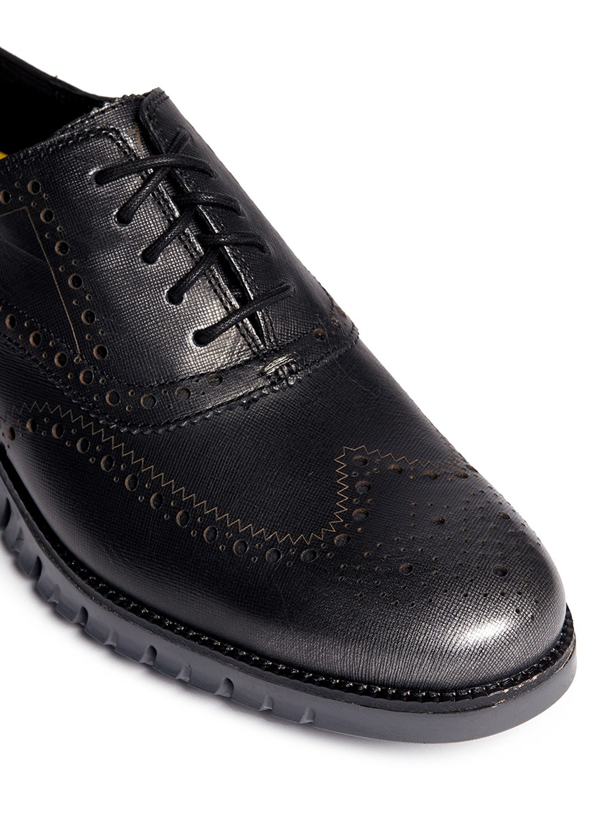 Cole haan black leather gloves - Gallery