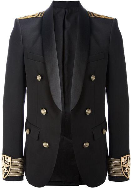 Balmain Sailor Blazer In Black For Men Lyst