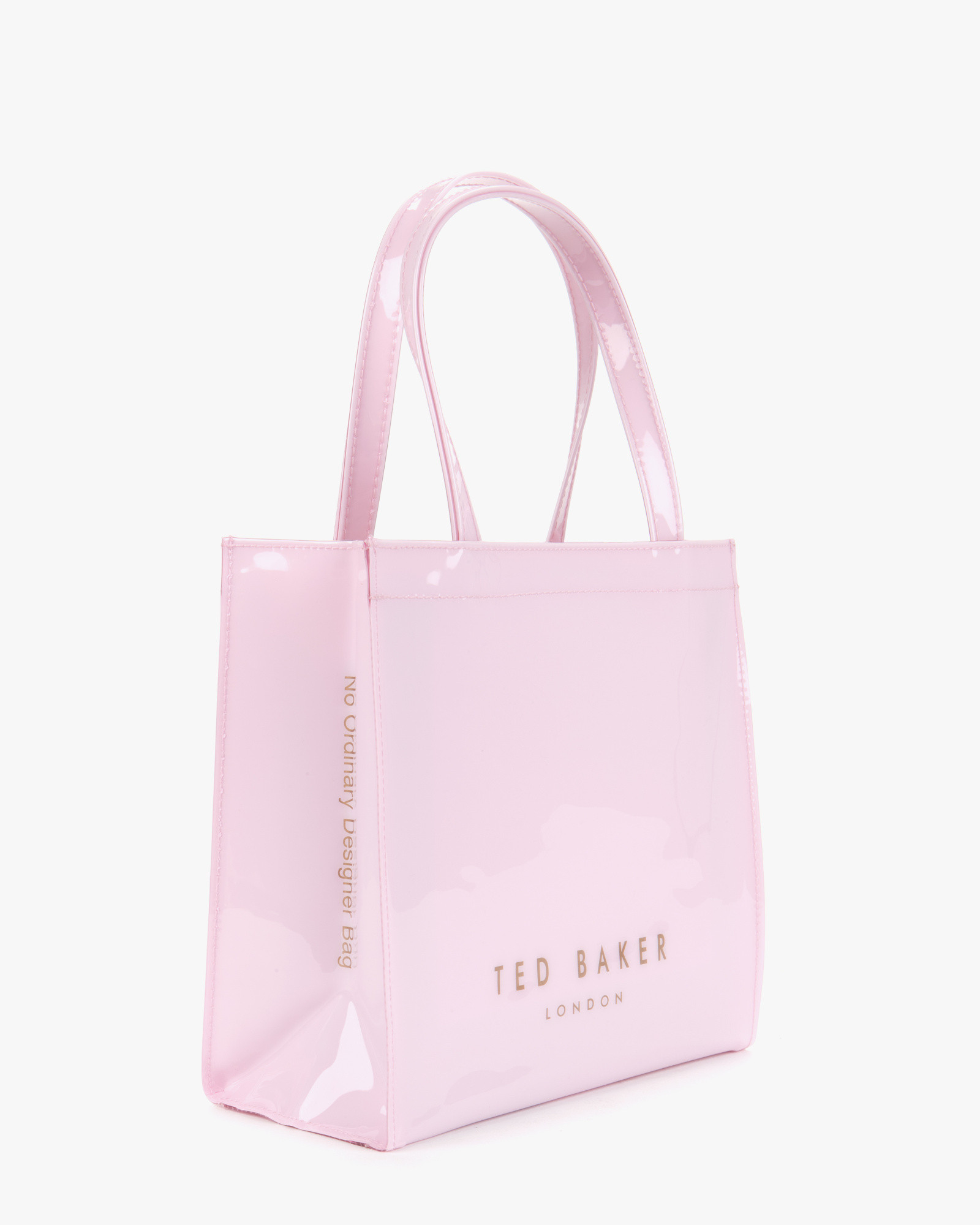 b1863e18680a Ted Baker Small Patent Bow Shopper in Pink - Lyst