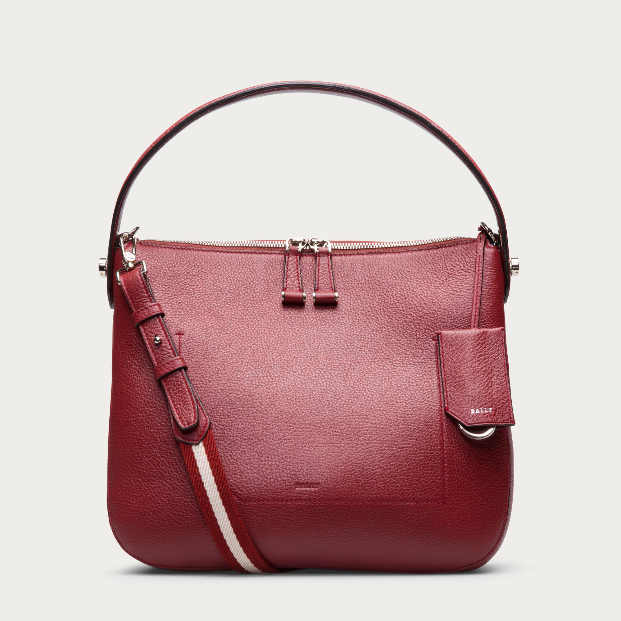 Original Bally  Multicolor Fiona Medium Women S Leather Shoulder Bag In