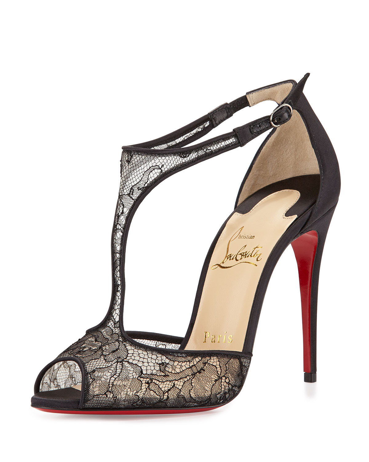 clearance clearance under 70 dollars Christian Louboutin Glitter-Accented Slingback Sandals cheap for sale cheap cost ZOjGY5aEc