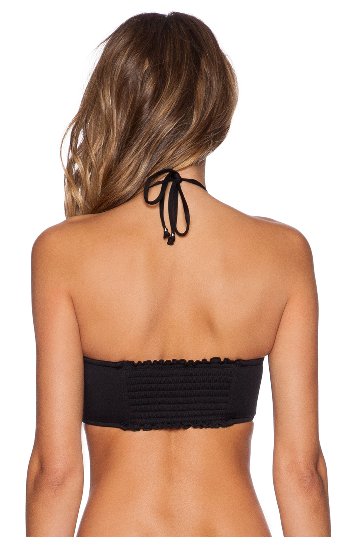 af948dc635 Lyst - Seafolly Goddess Strapless Bustier Bra Bikini Top in Black