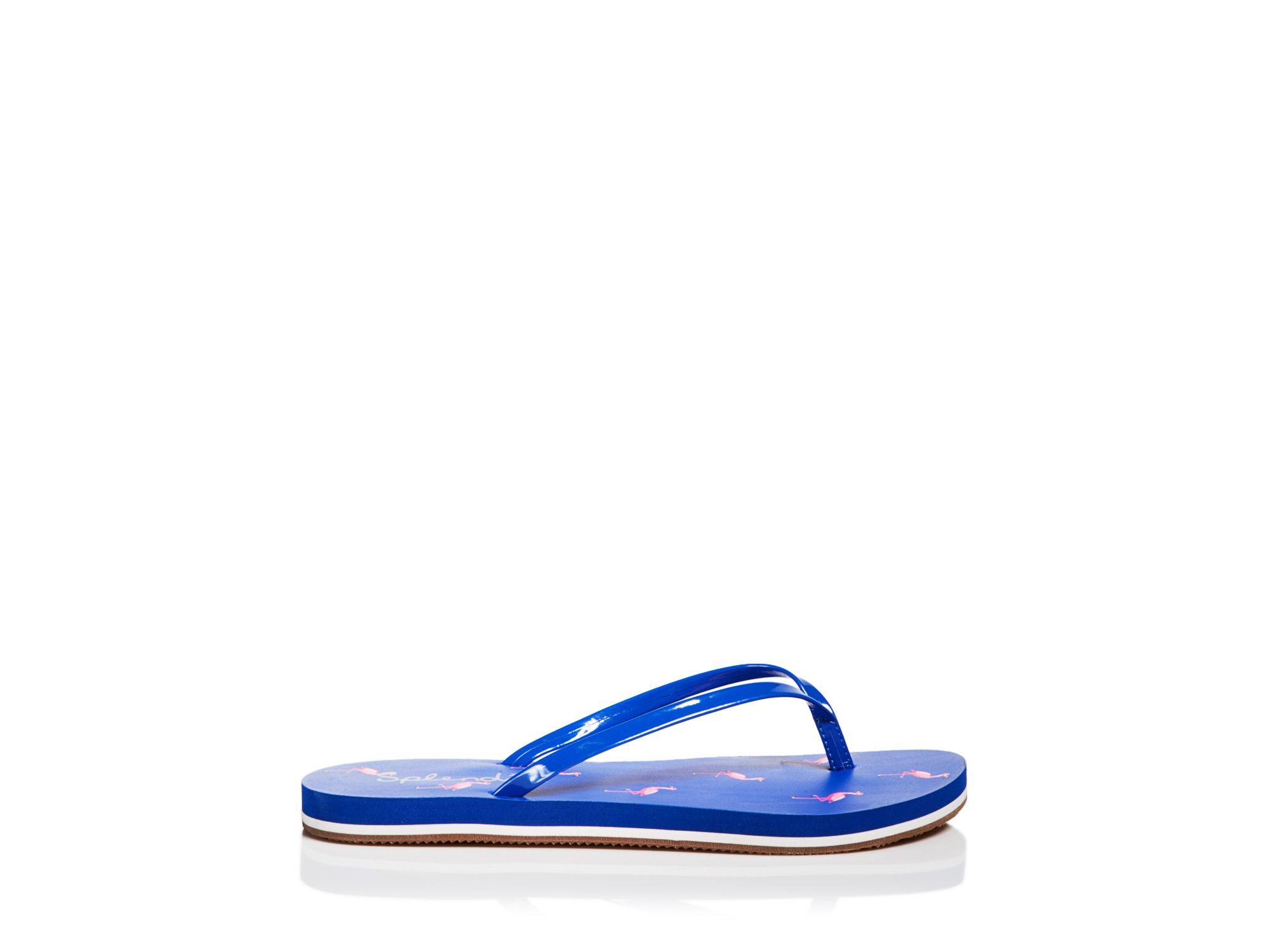 9d5cff0170b Lyst - Splendid Flip Flop Sandals - Firefly Flamingo in Blue