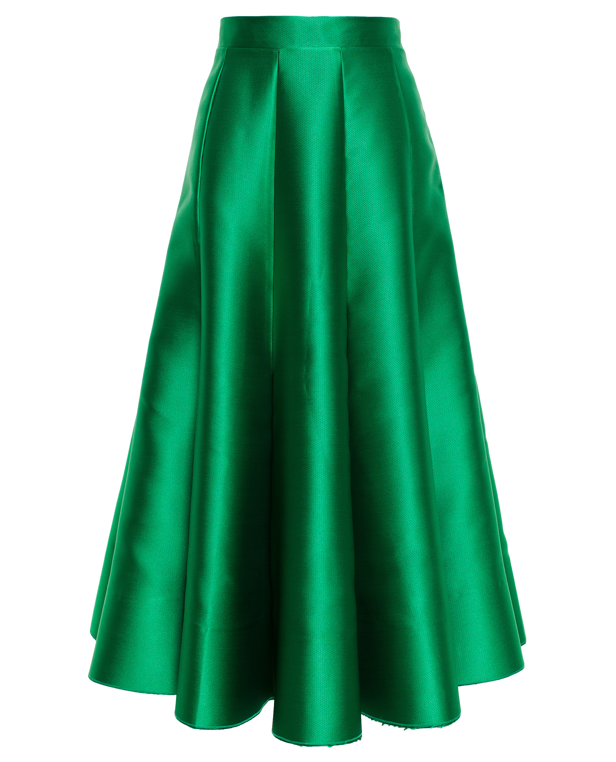 Natasha zinko Satin Midi Skirt in Green