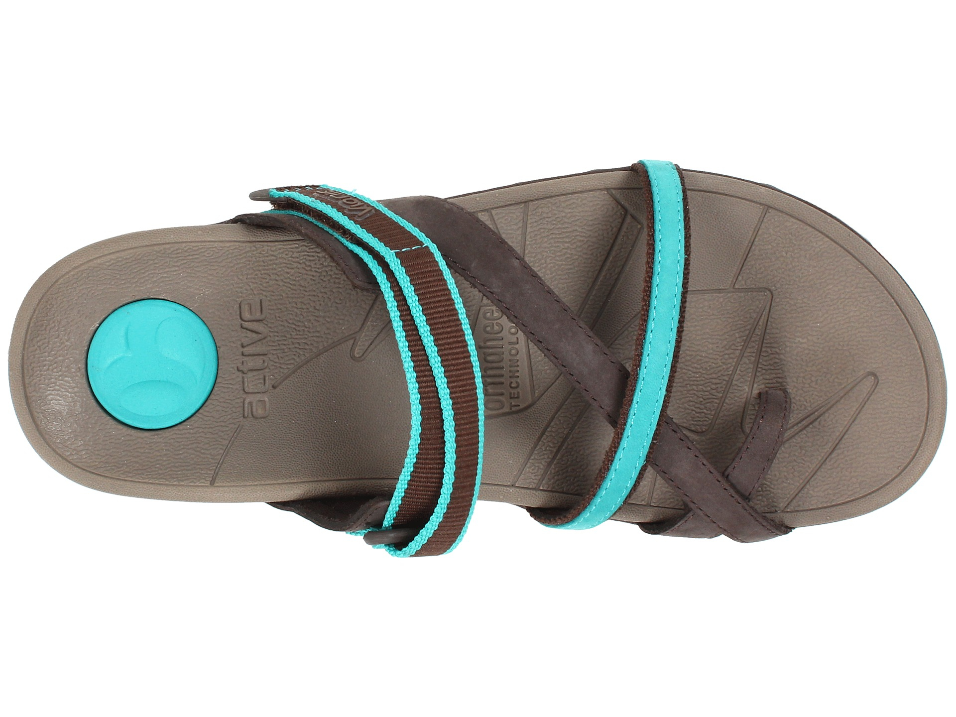 fc7e0e7ba54d Lyst - Vionic Mojave ™ Sport Recovery Toepost Sandal in Blue