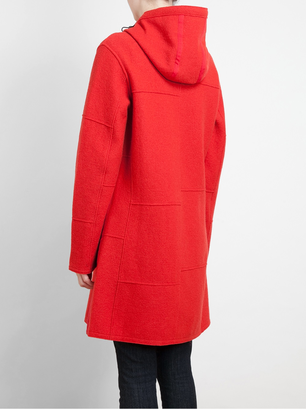 Frauenschuh Barbara Patchwork Boiled Wool Parka Coat in Red | Lyst