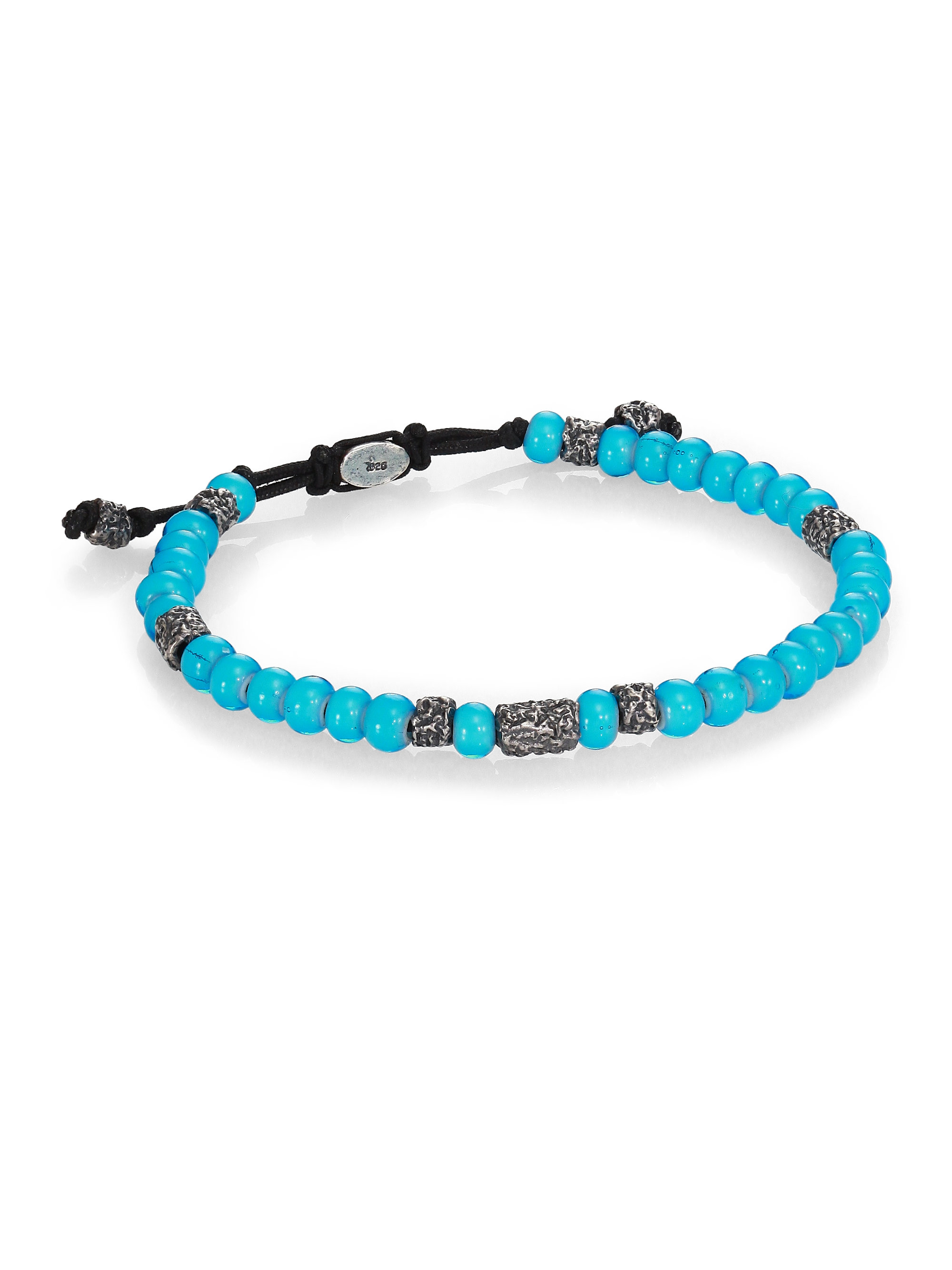 cohen African Beads Stacked Bracelet in Blue (TURQUOISE) | Lyst
