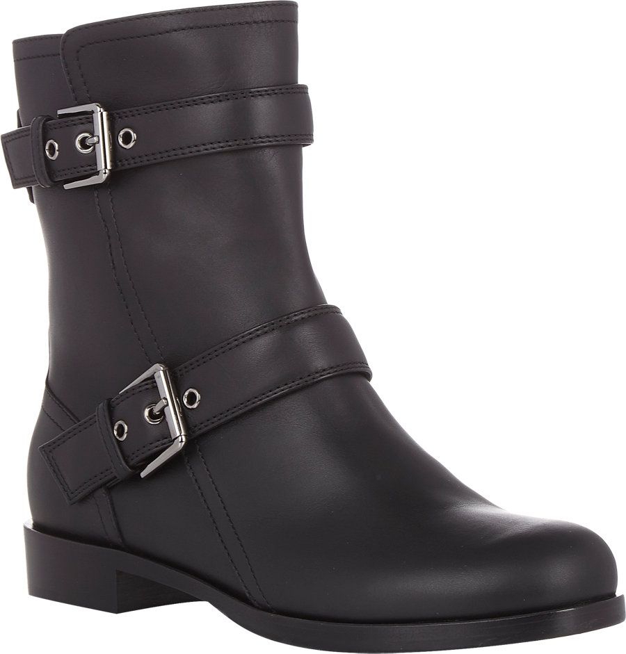 gianvito buckle moto boots in black lyst